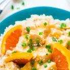 Idee de cina usoara: pui cu orez si portocale