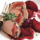 Muschi de porc cu sos de prune