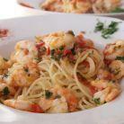 Spaghete cu creveti, ulei de masline si usturoi