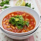 Supa marocana de naut cu scortisoara
