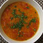 Supa de rosii cu usturoi si chimen