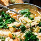 Supa cu fasole si carne de pui