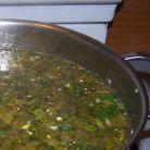 Ciorba de stevie cu orez si ou