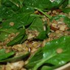 Salata cu spanac si linte verde