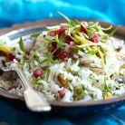 Salata cu orez, fistic si rodie