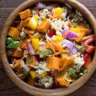 Salata cu orez si cartofi dulci