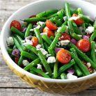 Idee de pranz de dieta: salata cu fasole verde si branza feta