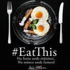 Adi Hadean a pornit campania #EatThis impotriva fumatului in restaurante