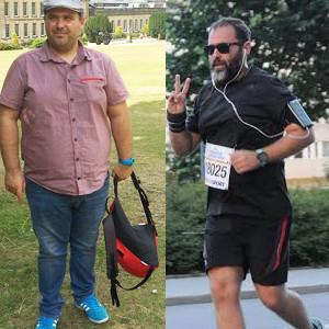Râdeau de el că e gras! A slăbit 32 de kile, aleargă maratoane, scrie la Times New Roman și tot râd de el!