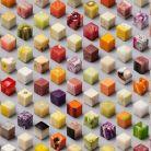 FOTO. 98 de cuburi perfecte din alimente crude